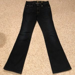 7 for all Mankind bootcut petite jeans 24